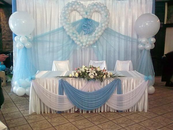 Украшения свадебных залов шарами фото